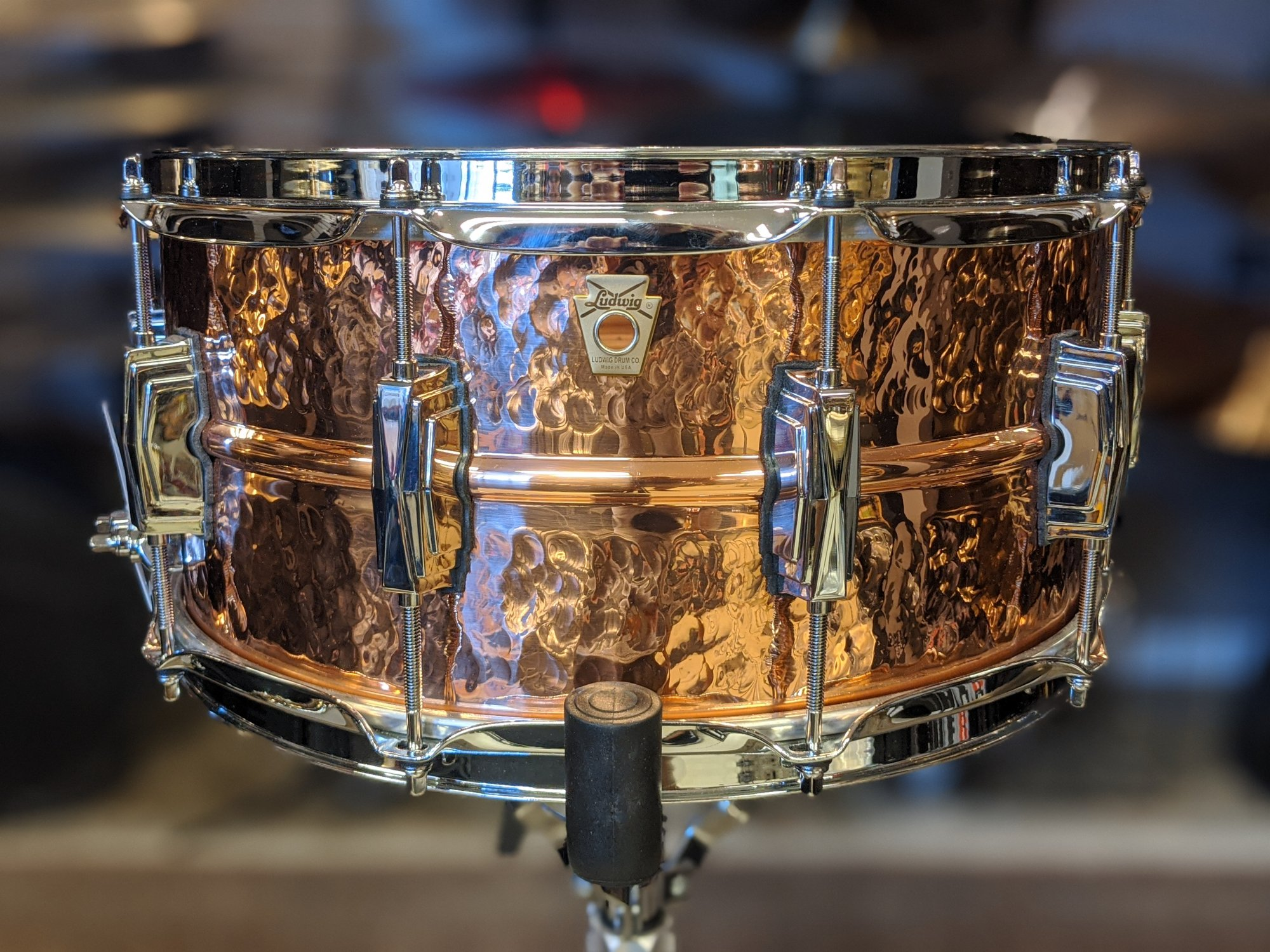 Ludwig Hammered Copper Snare 6.5 x 14
