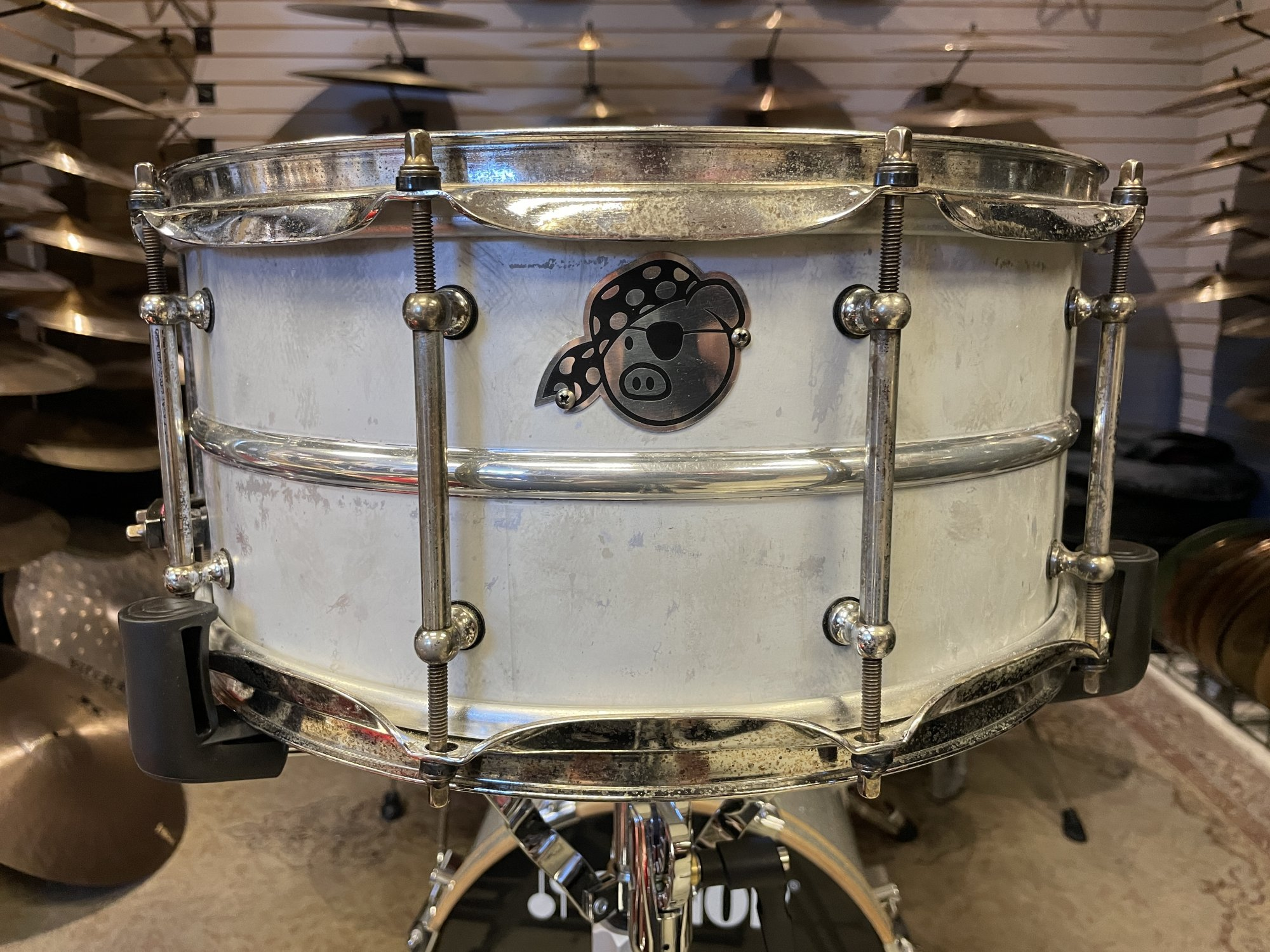 Pork Pie Percussion Aged Aluminum Snare 6.5 x 14