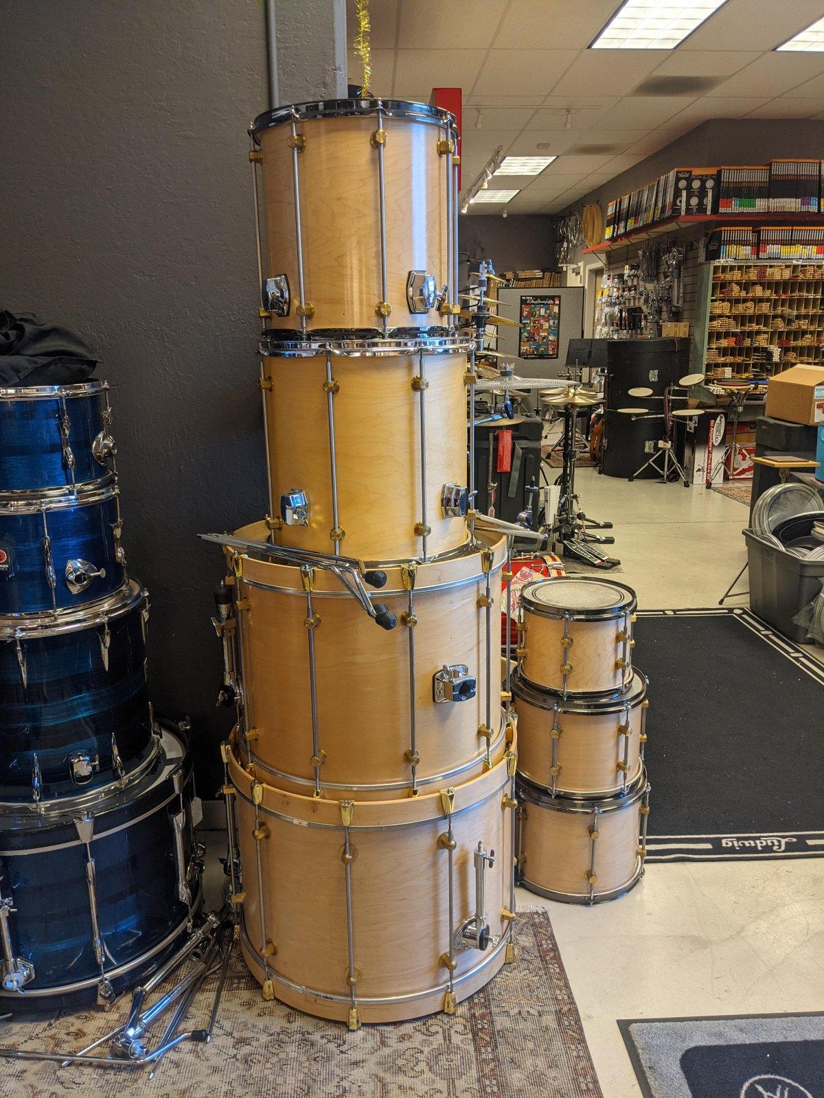 Custom Keller Shell Drum Set 22/20/10/12/13/14/16