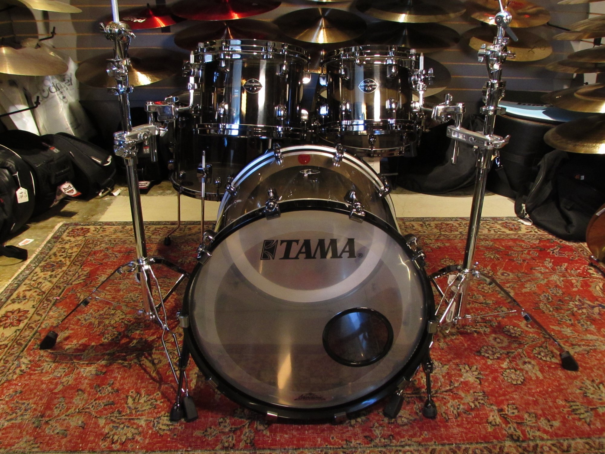 Tama Starclassic Mirage USA Acrylic Drumset Black Ice