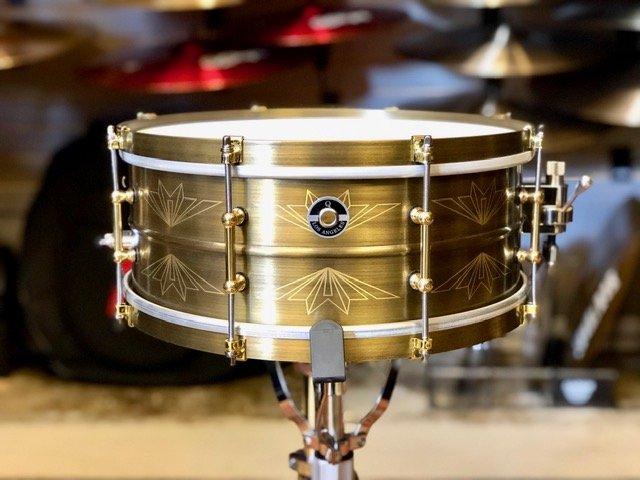 Q Drum Co. Union Brass Snare Drum 6 x 14