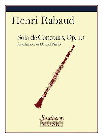 Rabaud, Henri: Solo de Concours for Clarinet & Piano