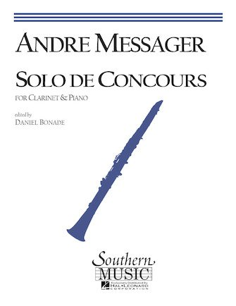 Messager, Andre: Solo de Concours for Clarinet & Piano
