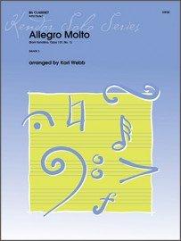 Schubert, Franz (arr. Webb): Allegro Molto from Sonatina Op. 137, No. 1 for Clarinet & Piano
