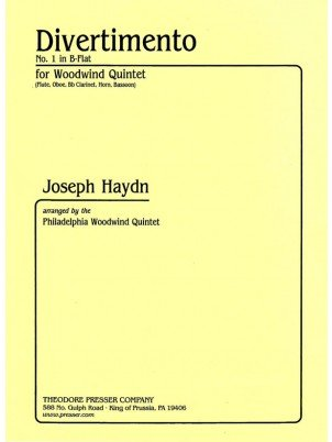 Haydn, Franz Joseph (arr. Philadelphia Woodwind Quintet): Divertiment No. 1 in B-Flat for Woodwind Quintet
