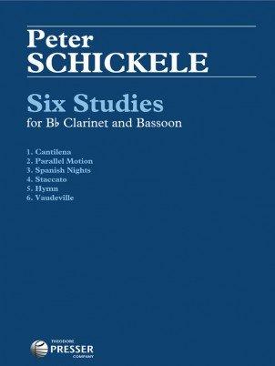 Schickele, Peter: Six Studies for Bb Clarinet & Bassoon