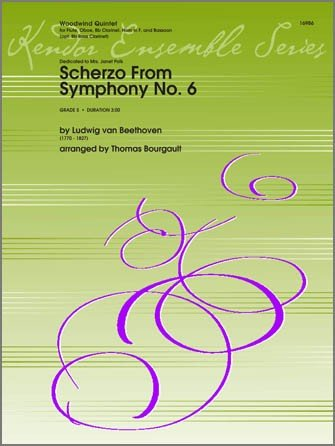 Beethoven, Ludwig (arr. Bourgault): Scherzo from Symphony No. 6 for Woodwind Quintet