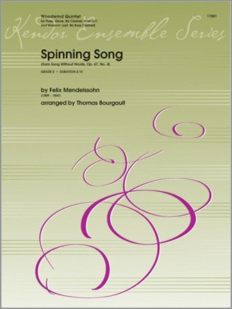 Mendelssohn, Felix (arr. Bourgault): Spinning Song for Woodwind Quintet