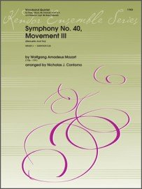 Mozart, W.A. (arr. Contorno): Symphony No. 40, Movement III for Woodwind Quintet