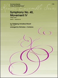 Mozart, W.A. (arr. Contorno): Symphony No. 40, Movement IV for Woodwind Quintet