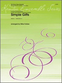 Forbes, Mike (arr.): Simple Gifts for Baritone-Tuba Quartet