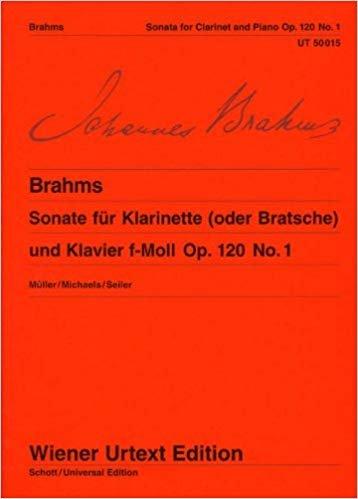Brahms, Johannes: Sonata in F minor Op. 120, No. 1 for Clarinet & Piano