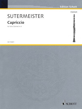Sutermeister, Heinrich: Capriccio for Solo Clarinet in A
