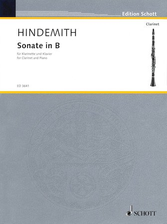 Hindemith, Paul: Sonate in Bb for Clarinet & Piano