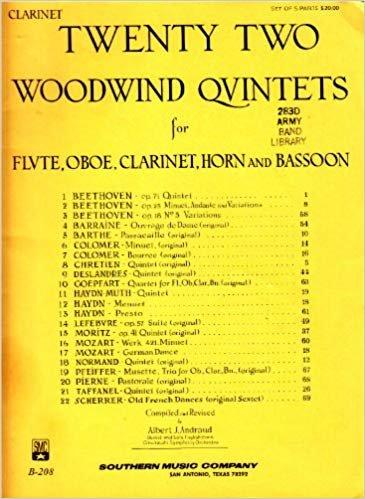 Twenty Two Woodwind Quintets