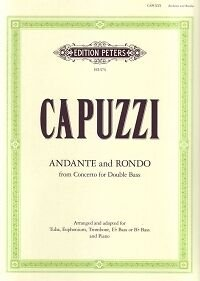 Capuzzi, Antonio: Andante and Rondo from Concerto for Double Bass for Tuba, Euphonium, Trombone, Eb Bass or Bb Bass & Piano