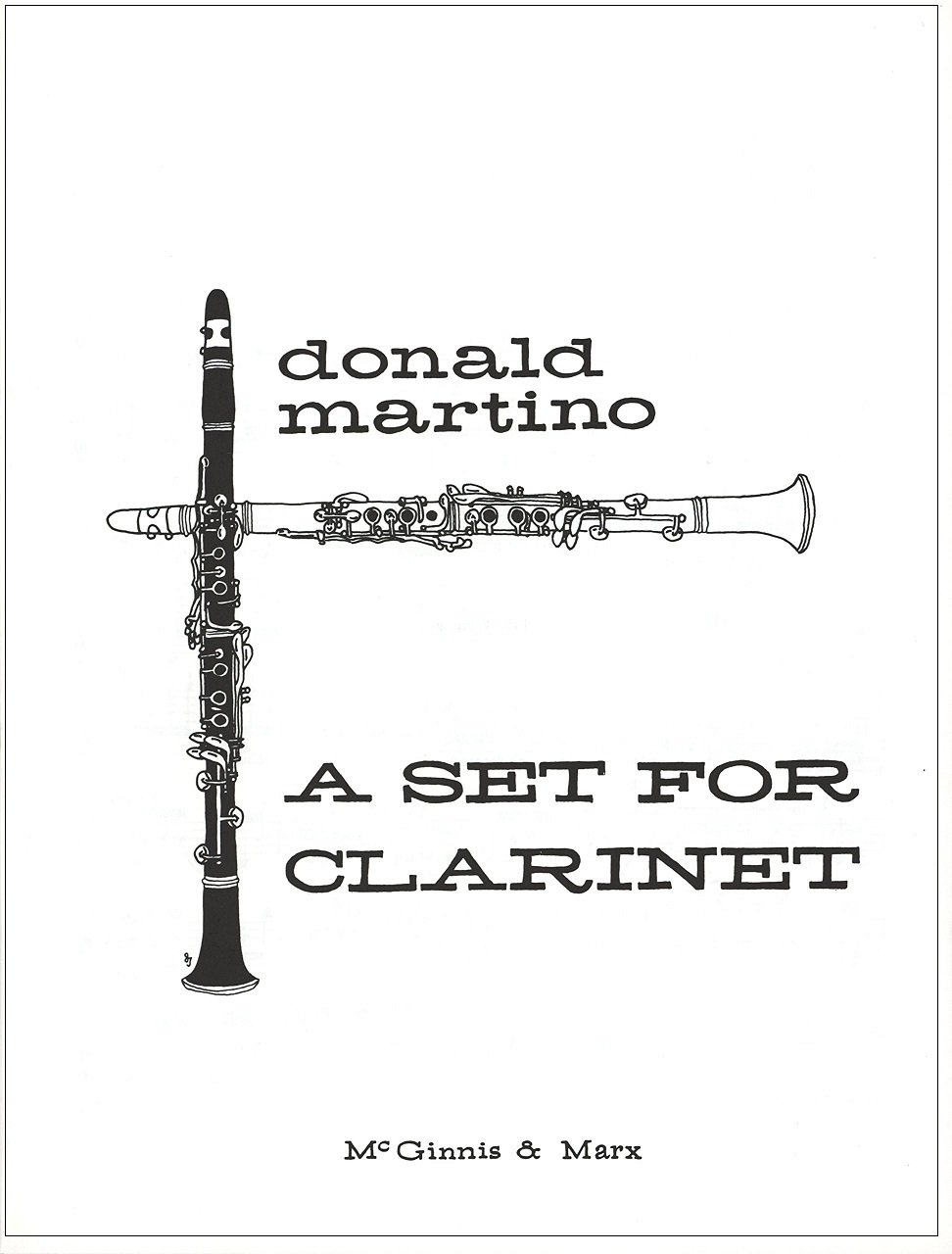 Martino, Donald: A Set for Clarinet