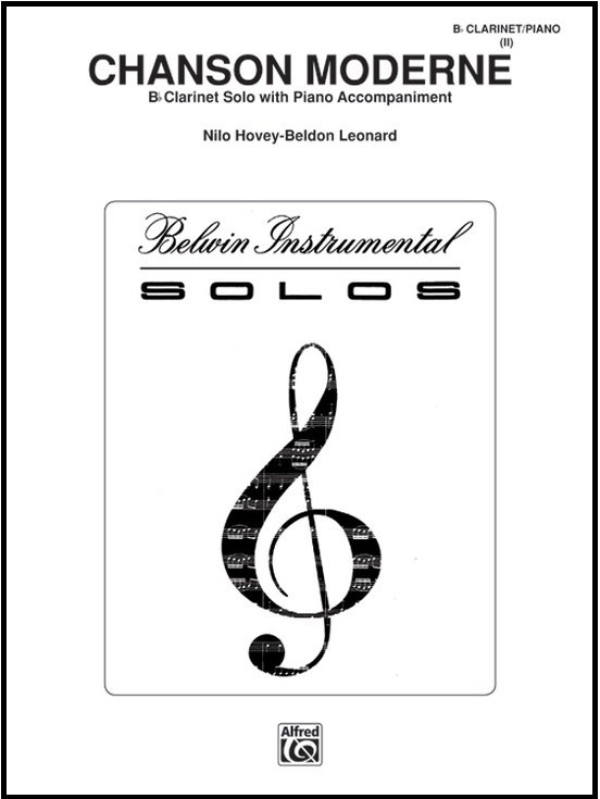 Hovey, Nilo: Chanson Moderne for Clarinet & Piano