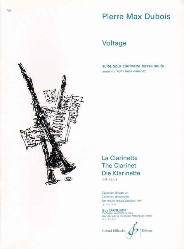 Dubois, Pierre: Voltage - Suite for Solo Bass Clarinet