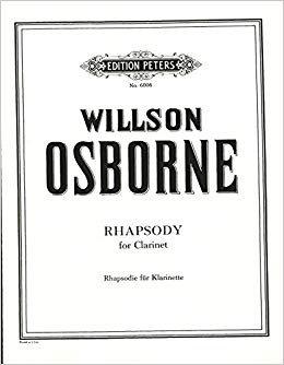 Osborne, Willson: Rhapsody for Solo Clarinet