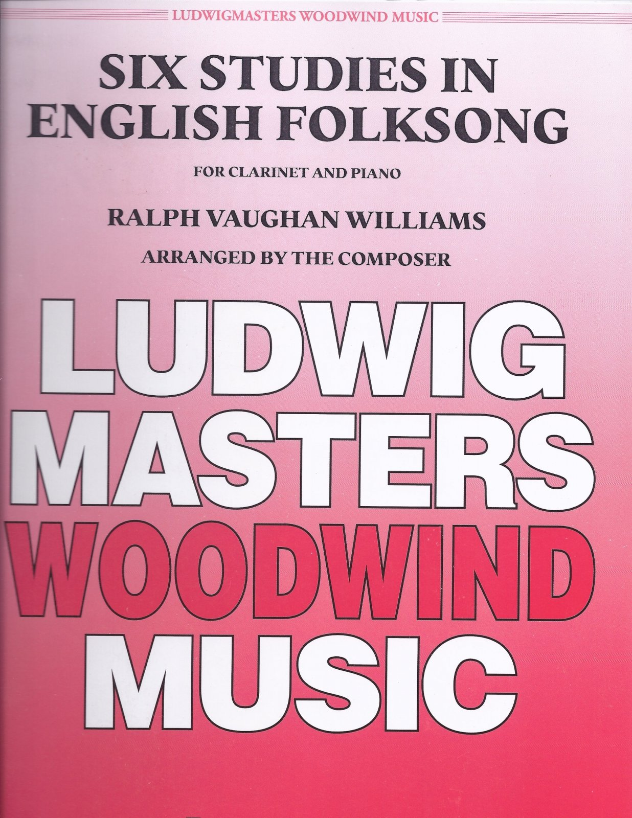 Vaughan Williams, Ralph: Six Studies in English Folksong for Clarinet & Piano