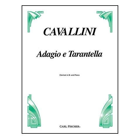 Cavallini, Ernesto: Adagio e Tarantella for Clarinet & Piano