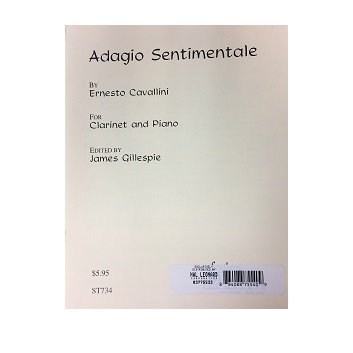 Cavallini, Ernesto: Adagio Sentimentale for Clarinet & Piano
