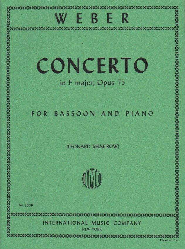 Weber, C.M.: Concerto in F major, Op. 75 for Bassoon & Piano