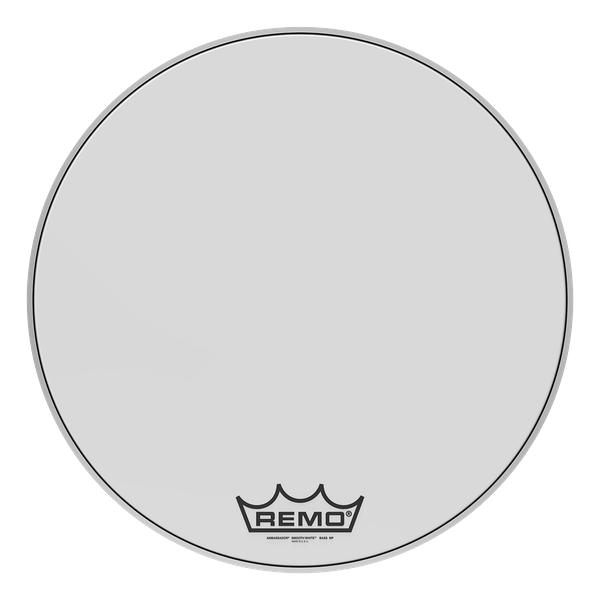 Remo Ambassador Smooth White Crimplock Bass Drumhead