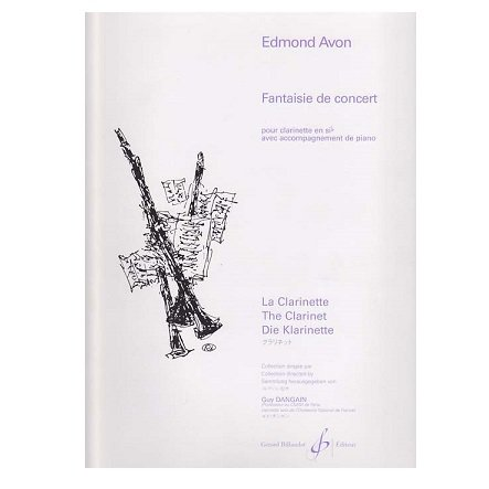 Avon, Edmond: Fantaisie de Concert for Clarinet & Piano