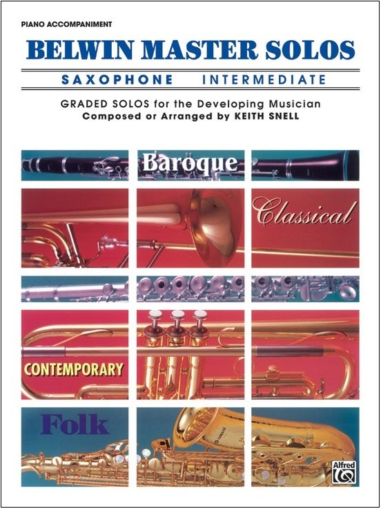 Belwin Master Solos - Saxophone Intermediate - Piano Accompaniment