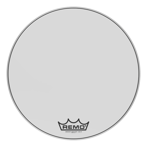 Remo Ambassador Smooth White Drumhead with Yamaha Logo