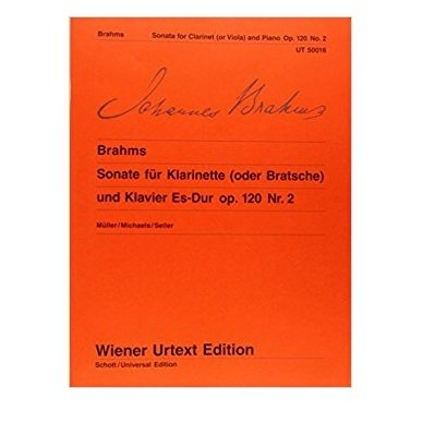 Brahms, Johannes: Sonata in Eb Major Op. 120, No. 2 for Clarinet & Piano (Schott Urtext)