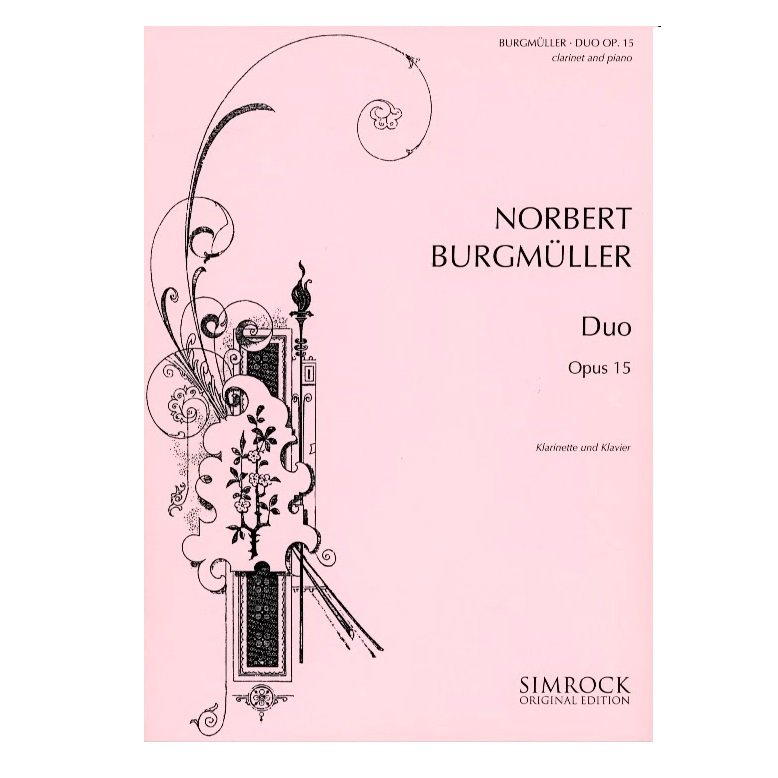 Burgmuller, Norbert: Duo Op. 15 for Clarinet & Piano