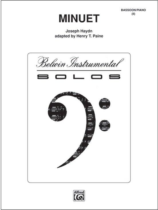 Haydn, Franz Joseph (arr. Paine): Minuet for Bassoon & Piano