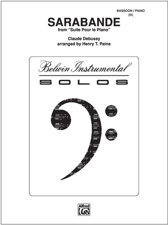 Debussy, Claude (arr. Paine): Sarabande from Suite pour le Piano for Bassoon & Piano