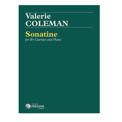 Coleman, Valerie: Sonatine for Bb Clarinet & Piano