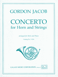 Jacob, Gordon: Concerto for Horn & Strings
