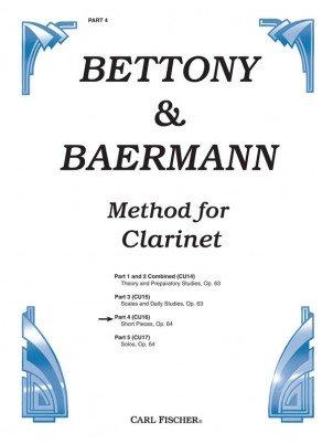 Bettony, Harry & Baermann, Carl: Method for Clarinet