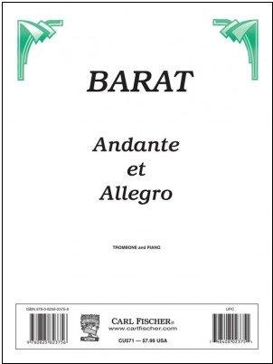 Barat, Joseph: Andante et Allegro for Trombone & Piano