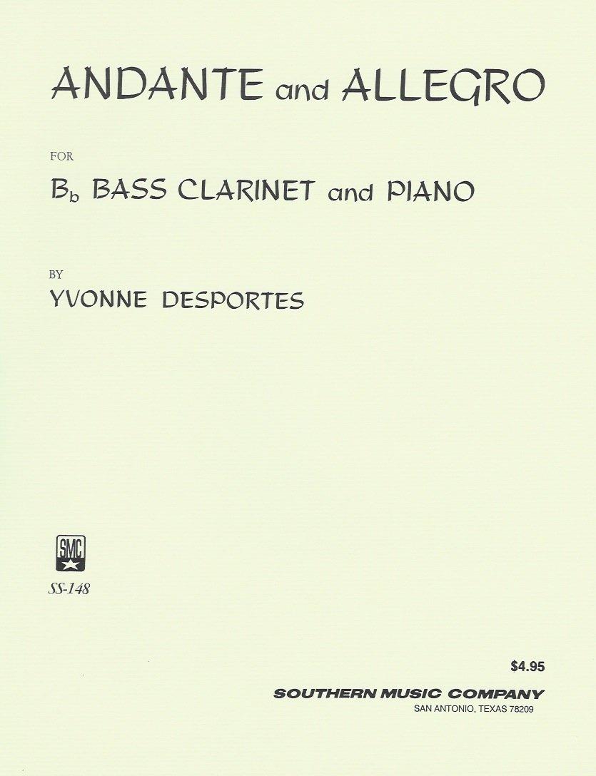 Desportes, Yvonne: Andante & Allegro for Bass Clarinet & Piano