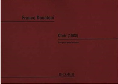 Donatoni, Franco: Two Pieces for Solo Clarinet