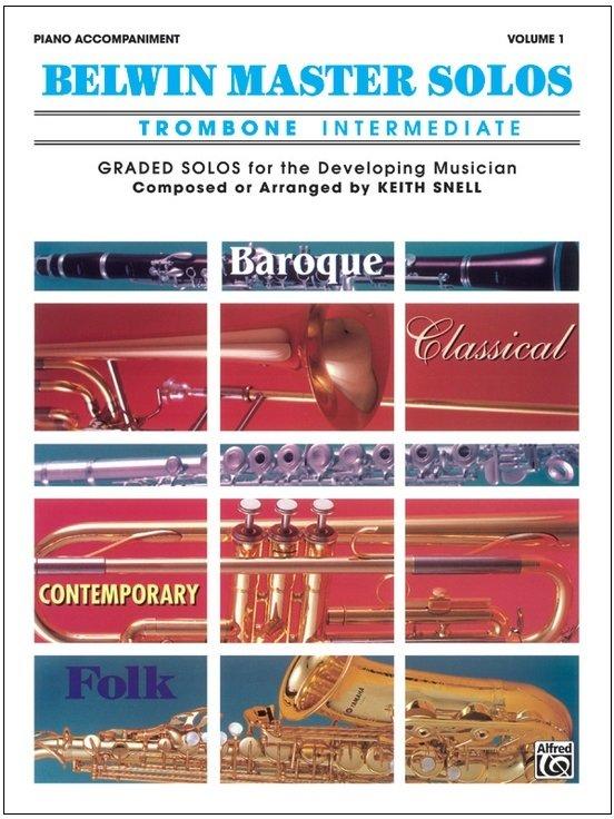 Belwin Master Solos Volume 1 - Trombone Intermediate - Piano Accompaniment