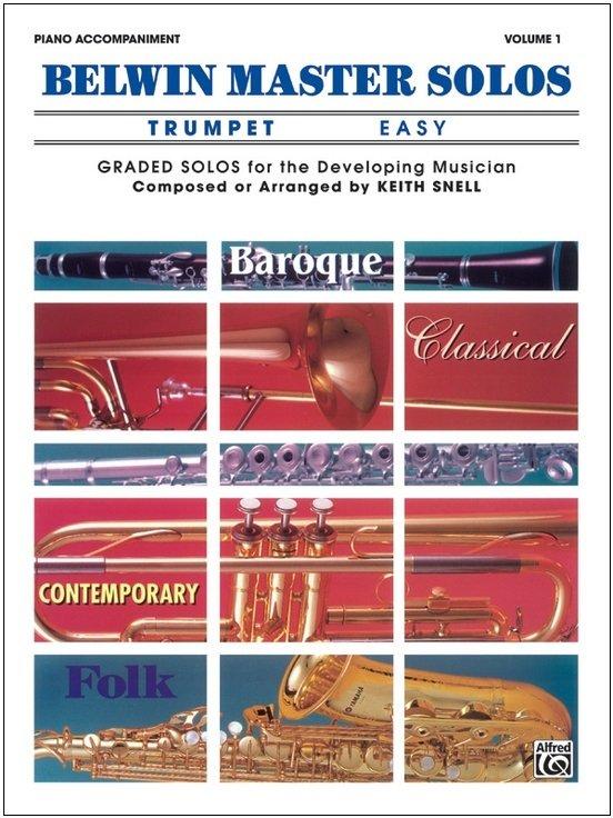 Belwin Master Solos - Trumpet Easy - Piano Accompaniment