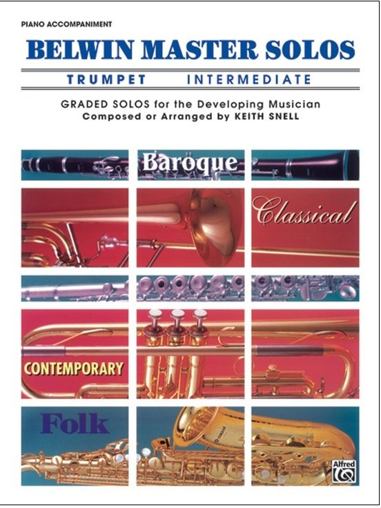 Belwin Master Solos - Trumpet Intermediate - Piano Accompaniment