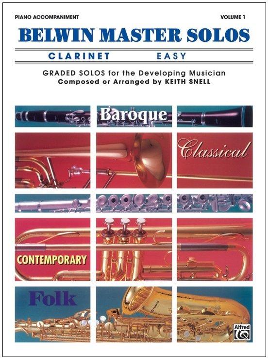 Belwin Master Solos - Clarinet Easy - Piano Accompaniment