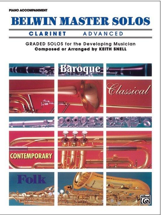 Belwin Master Solos - Clarinet Advanced - Piano Accompaniment