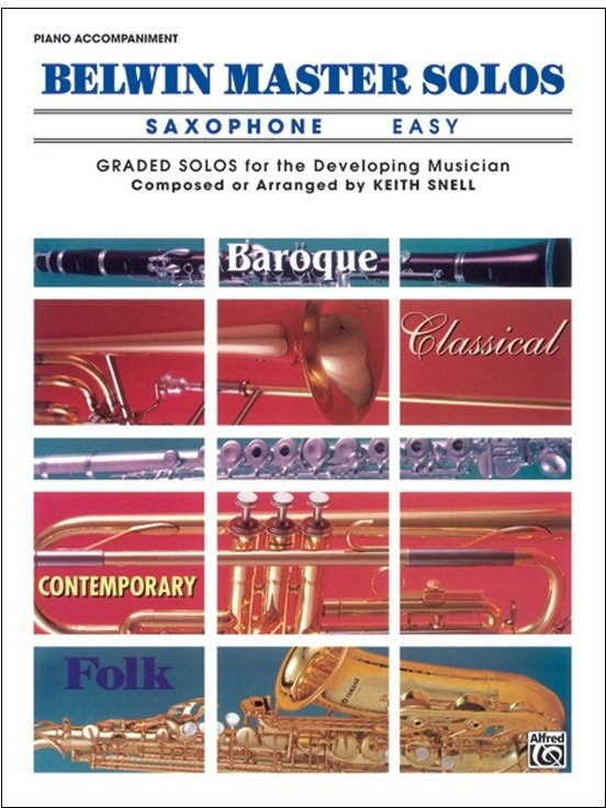 Belwin Master Solos - Saxophone Easy - Piano Accompaniment