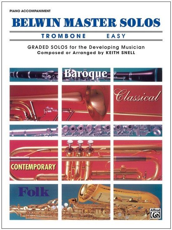 Belwin Master Solos Volume 1 - Trombone Easy - Piano Accompaniment
