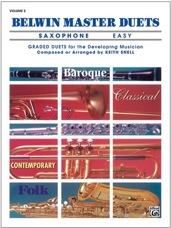 Belwin Master Duets Volume 2 - Saxophone Easy